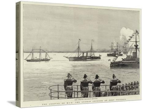 The Arrival of H I M the German Emperor at Port Victoria--Stretched Canvas Print