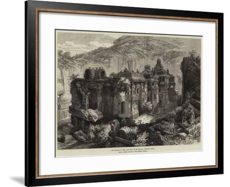 The Kailas, in the Cave Temples of Ellora, Western India--Framed Art Print