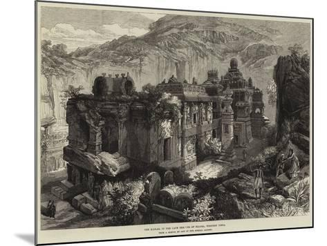The Kailas, in the Cave Temples of Ellora, Western India--Mounted Giclee Print