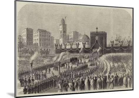 Obsequies of the Duke of Malakoff at Algiers on the 4 June--Mounted Giclee Print