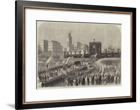 Obsequies of the Duke of Malakoff at Algiers on the 4 June--Framed Art Print