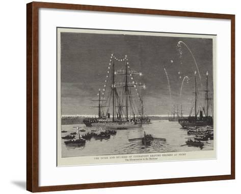 The Duke and Duchess of Connaught Leaving Colombo at Night--Framed Art Print