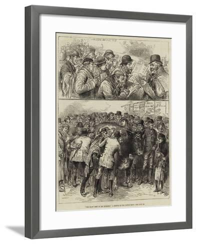 The Roast Beef of Old England, a Sketch at the Cattle Show--Framed Art Print