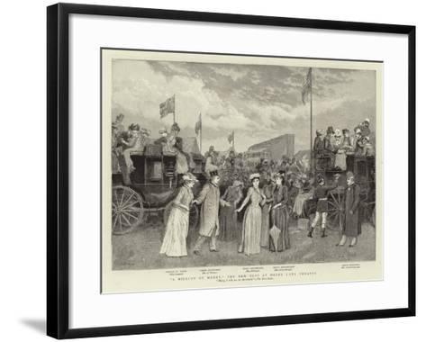 A Million of Money, the New Play at Drury Lane Theatre--Framed Art Print