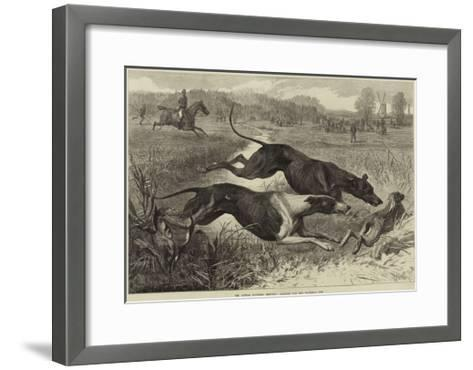 The Altcar Coursing Meeting, Running for the Waterloo Cup--Framed Art Print