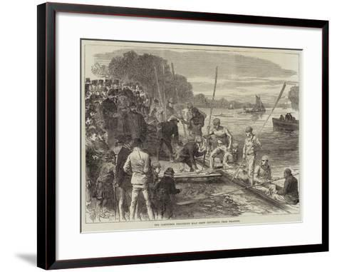 The Cambridge University Boat Crew Returning from Practice--Framed Art Print