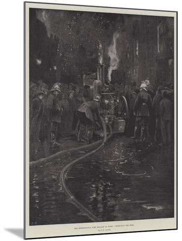The Metropolitan Fire Brigade at Work, Connecting the Hose--Mounted Giclee Print