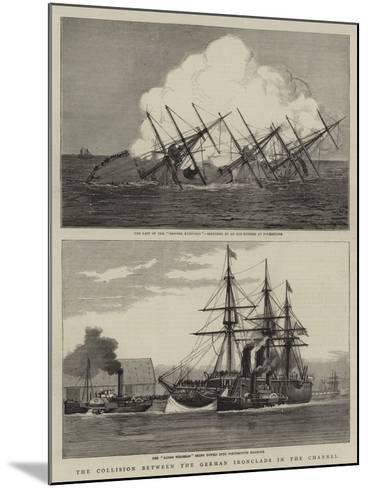 The Collision Between the German Ironclads in the Channel--Mounted Giclee Print