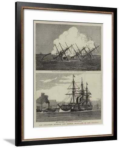 The Collision Between the German Ironclads in the Channel--Framed Art Print