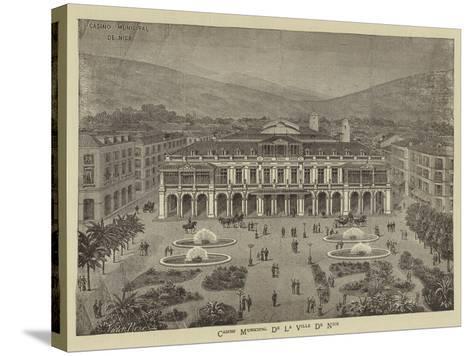 Advertisement, Casino Municipal De La Ville De Nice--Stretched Canvas Print