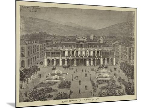 Advertisement, Casino Municipal De La Ville De Nice--Mounted Giclee Print