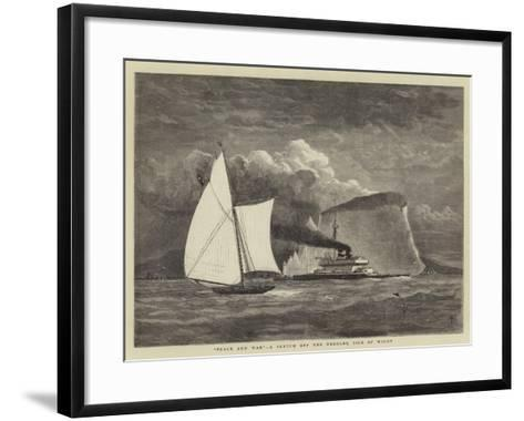 Peace and War, a Sketch Off the Needles, Isle of Wight--Framed Art Print