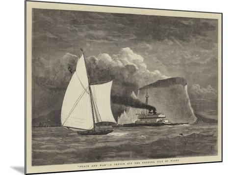 Peace and War, a Sketch Off the Needles, Isle of Wight--Mounted Giclee Print