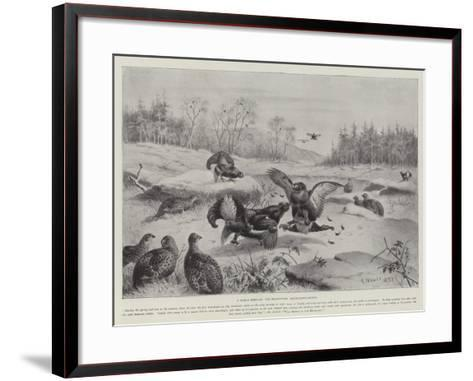 A March Morning, the Blackcocks' Tournament-Ground--Framed Art Print