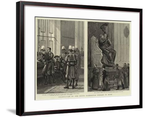 Celebration of the Pope's Sacerdotal Jubilee in Rome--Framed Art Print
