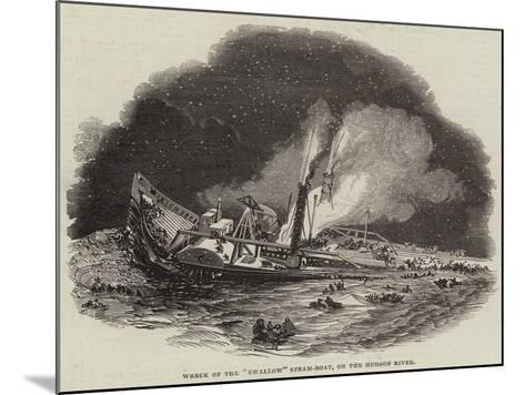 Wreck of the Swallow Steam-Boat, on the Hudson River--Mounted Giclee Print