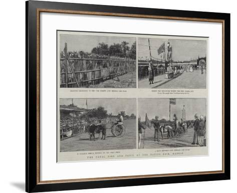 The Fatal Fire and Panic at the Native Fair, Madras--Framed Art Print