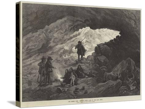 The Modoc War, Captain Jack's Cave in the Lava Beds--Stretched Canvas Print