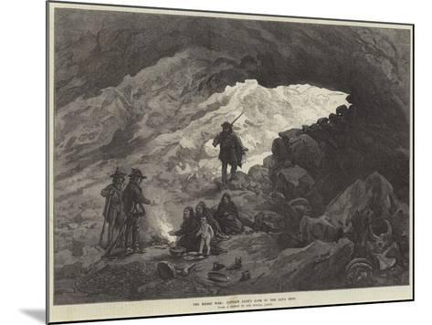 The Modoc War, Captain Jack's Cave in the Lava Beds--Mounted Giclee Print