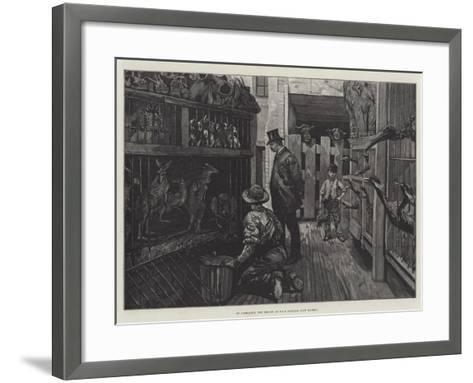 At Jamrach'S, the Dealer in Wild Animals, East London--Framed Art Print