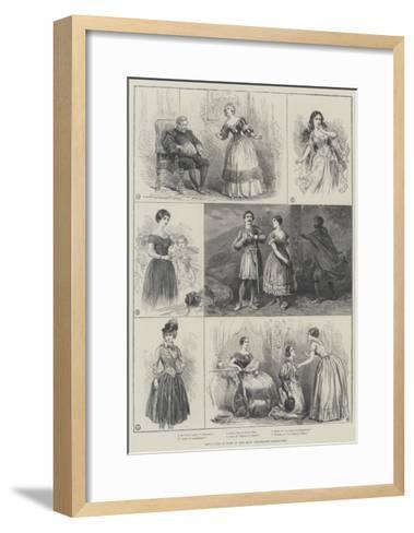 Jenny Lind in Some of Her Most Celebrated Characters--Framed Art Print