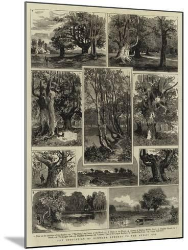 The Dedication of Burnham Beeches to the Public Use--Mounted Giclee Print