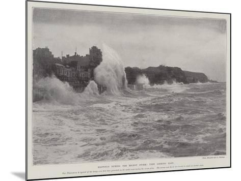 Hastings During the Recent Storm, View Looking East--Mounted Giclee Print