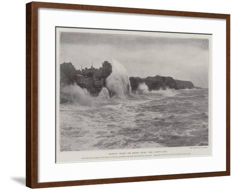 Hastings During the Recent Storm, View Looking East--Framed Art Print