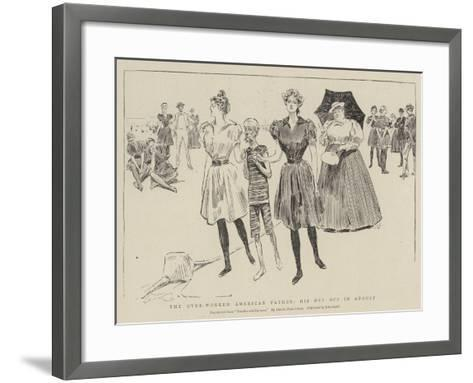 The Over-Worked American Father, His Day Off in August--Framed Art Print