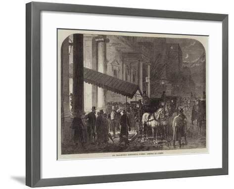 Mr Gladstone's Ministerial Dinner, Arrival of Guests--Framed Art Print