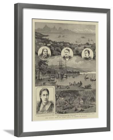 The Recent Visit of Queen Marau of Tahiti to Europe--Framed Art Print