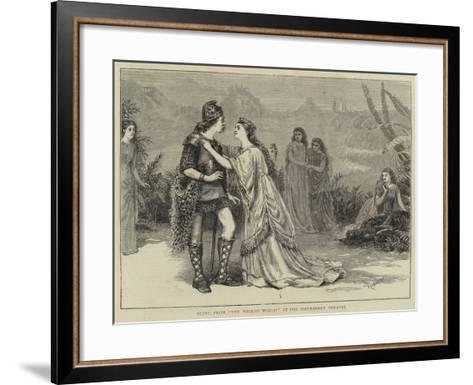Scene from The Wicked World at the Haymarket Theatre--Framed Art Print
