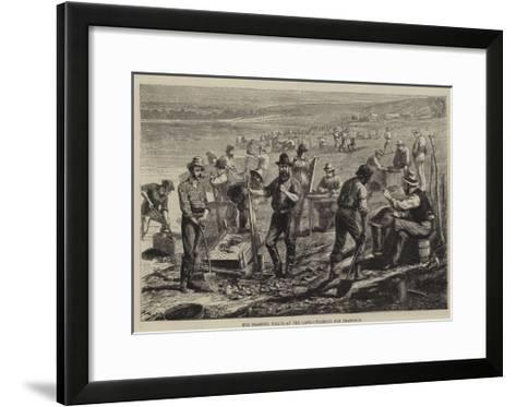 The Diamond Fields at the Cape, Washing for Diamonds--Framed Art Print