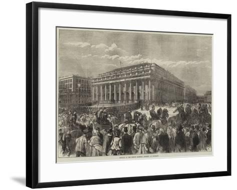 Meeting of the French National Assembly at Bordeaux--Framed Art Print