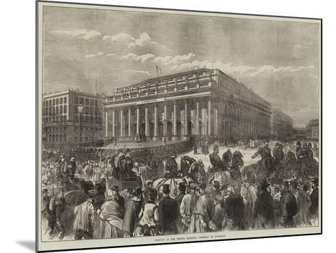 Meeting of the French National Assembly at Bordeaux--Mounted Giclee Print