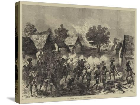 Lord Gifford and Advance Scouts Storming a Village--Stretched Canvas Print