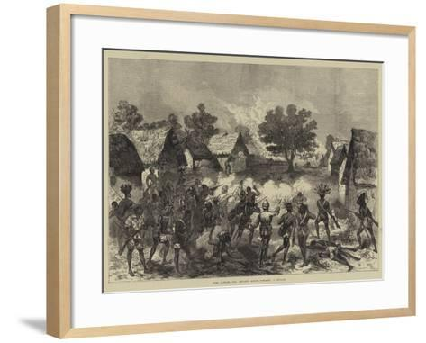 Lord Gifford and Advance Scouts Storming a Village--Framed Art Print