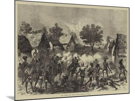 Lord Gifford and Advance Scouts Storming a Village--Mounted Giclee Print