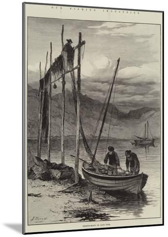 Our Fishing Industries, Herring-Boats on Loch Fyne--Mounted Giclee Print