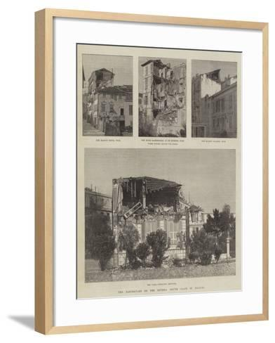 The Earthquake on the Riviera, South Coast of France--Framed Art Print