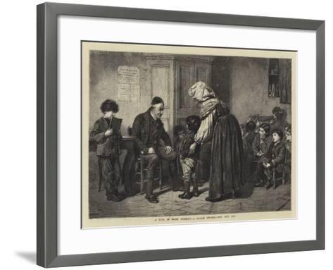 A Type of Rome Present, a Roman School, the New Boy--Framed Art Print