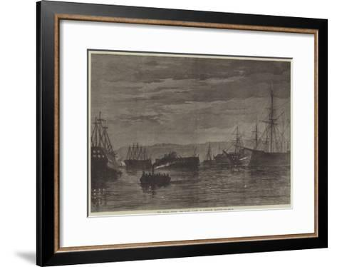 The Fenian Alarm, the Night Guard in Plymouth Harbour--Framed Art Print