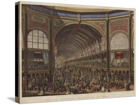 The International Exhibition, the Nave, Looking West--Stretched Canvas Print