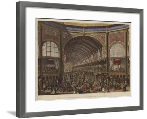 The International Exhibition, the Nave, Looking West--Framed Art Print