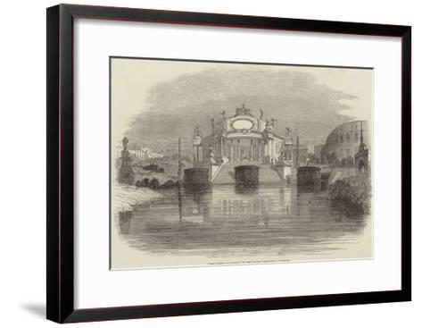 The Temple of Janus, at the Surrey Zoological Gardens--Framed Art Print