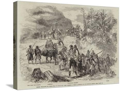 Greek Peasants on their Way to Welcome King George I--Stretched Canvas Print