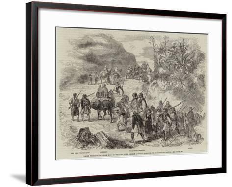 Greek Peasants on their Way to Welcome King George I--Framed Art Print