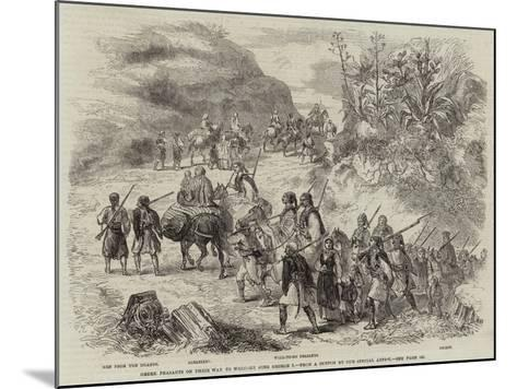 Greek Peasants on their Way to Welcome King George I--Mounted Giclee Print