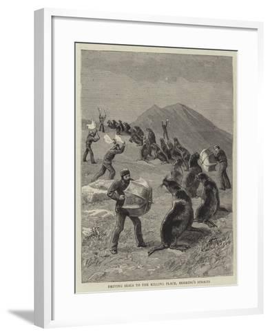 Driving Seals to the Killing Place, Behring's Straits--Framed Art Print