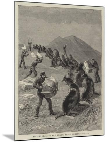 Driving Seals to the Killing Place, Behring's Straits--Mounted Giclee Print